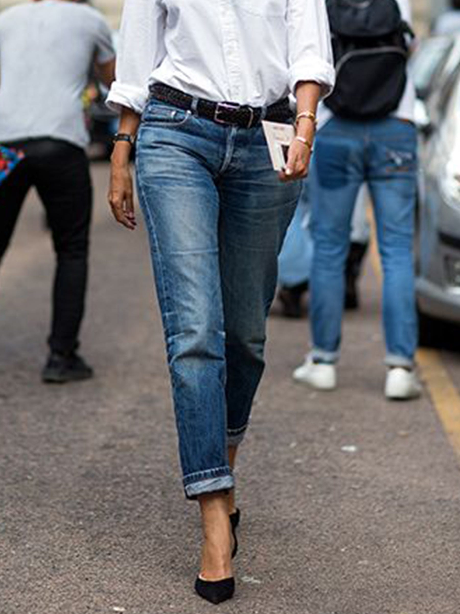 How To Wear Heels With Jeans
