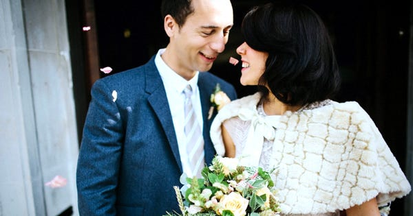 This Stylish Couple Tossed Their Guest List For A Date-Night Elopement