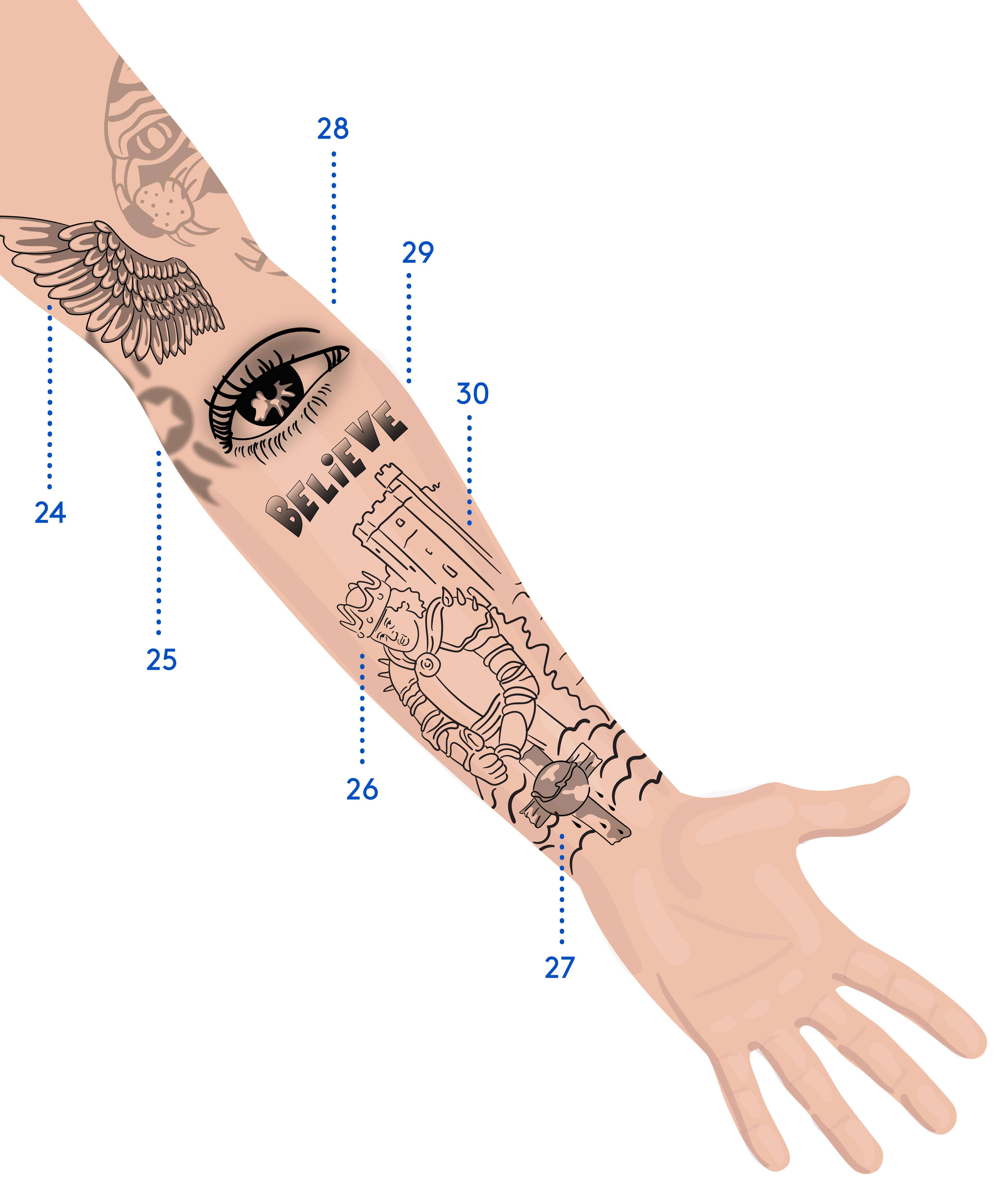 Justin Biebers Tattoos Im überblick Und Ihre Bedeutung