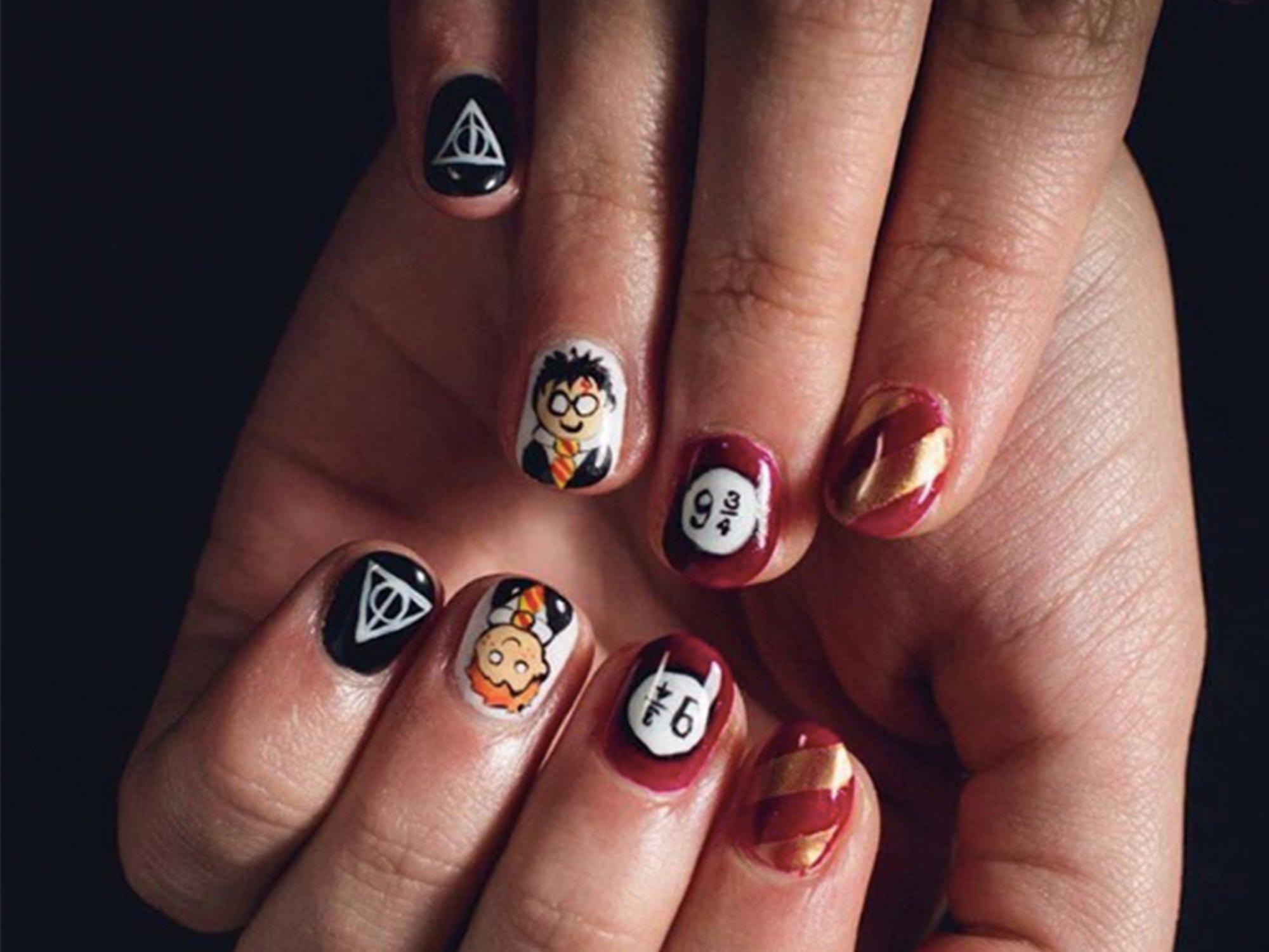 Harry Potter Marvel Nails - Best Nail Designs 2016