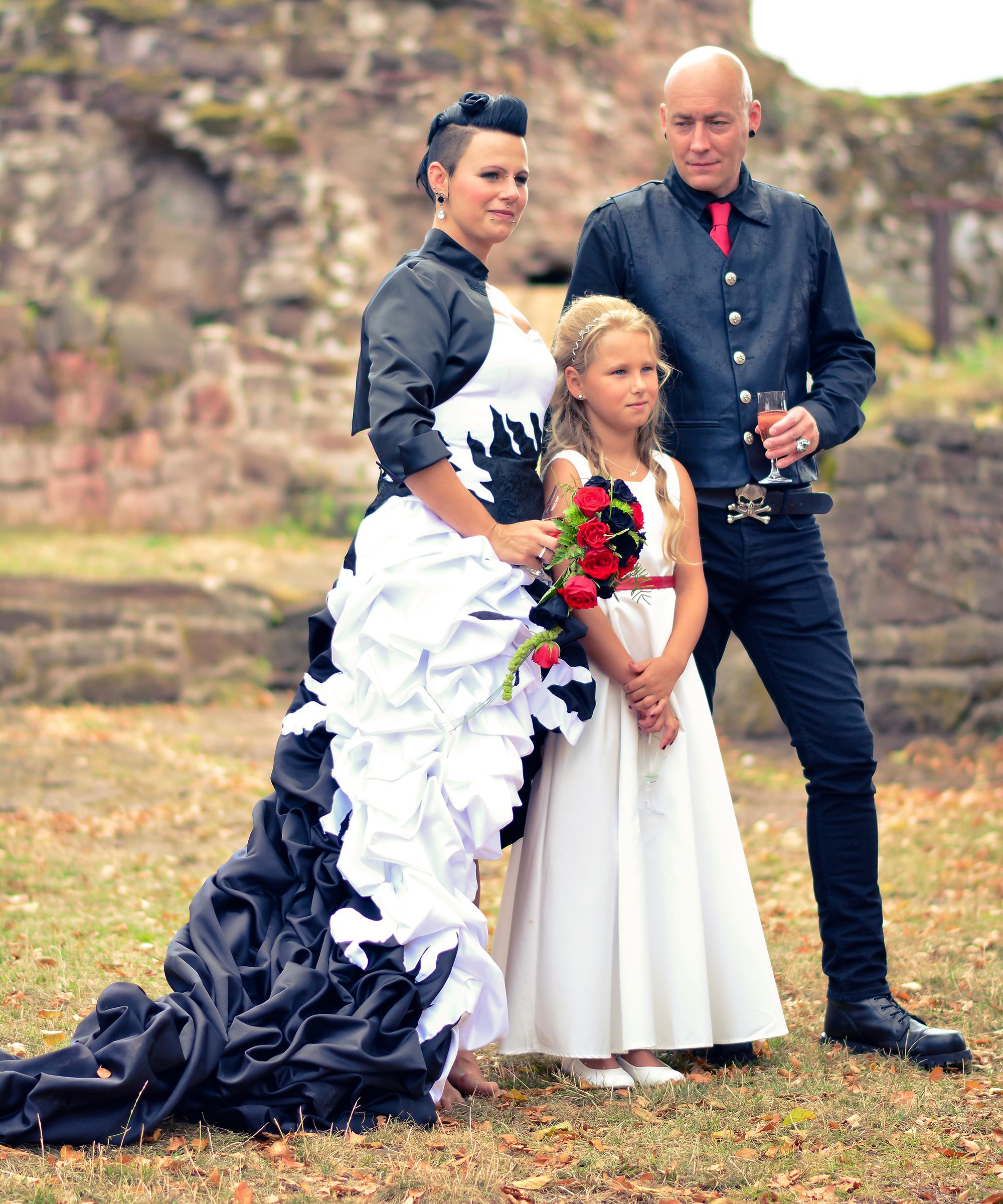 Hochzeit im Gothic-Stil