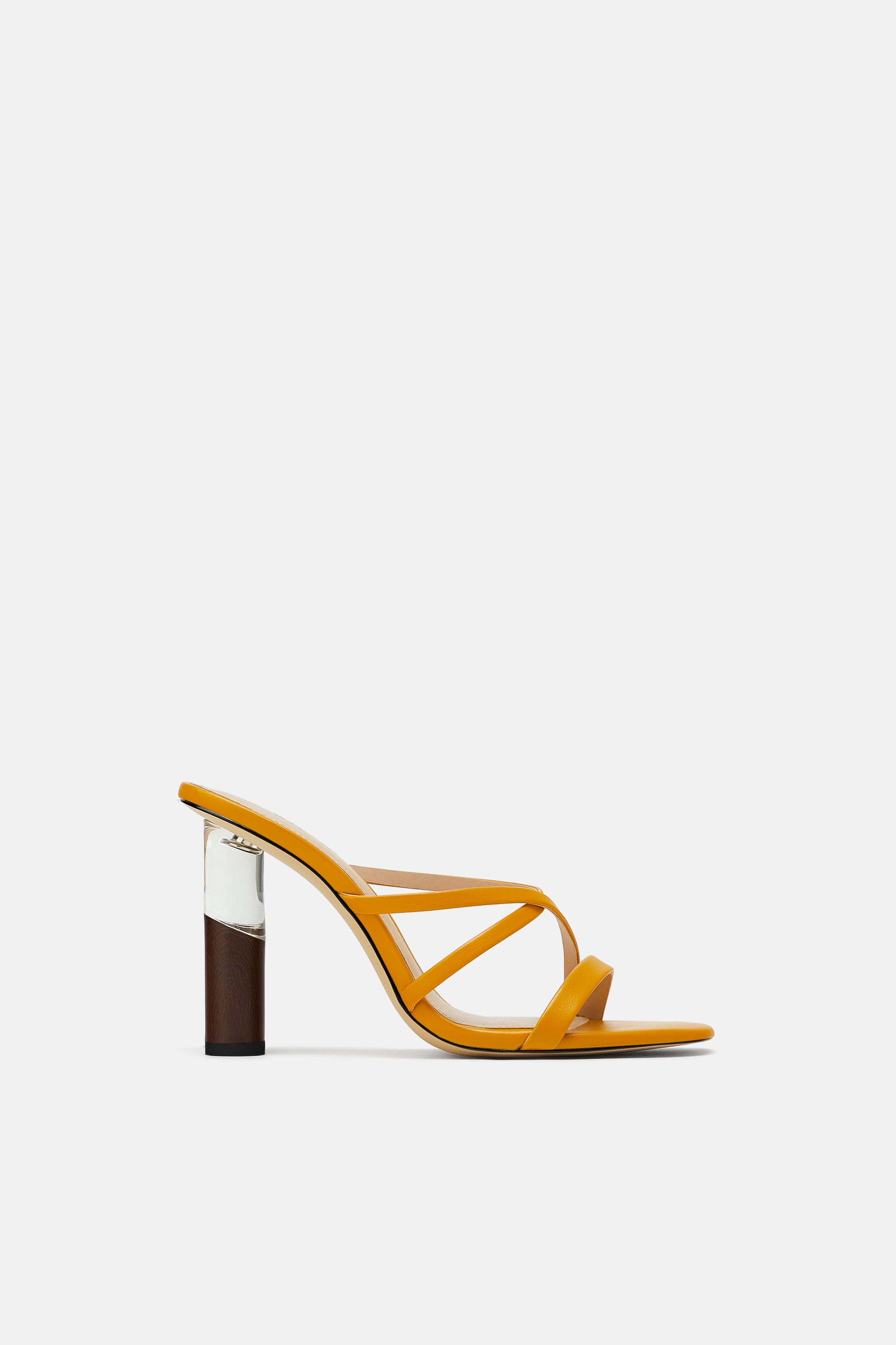Contrasting Round Heeled Sandals