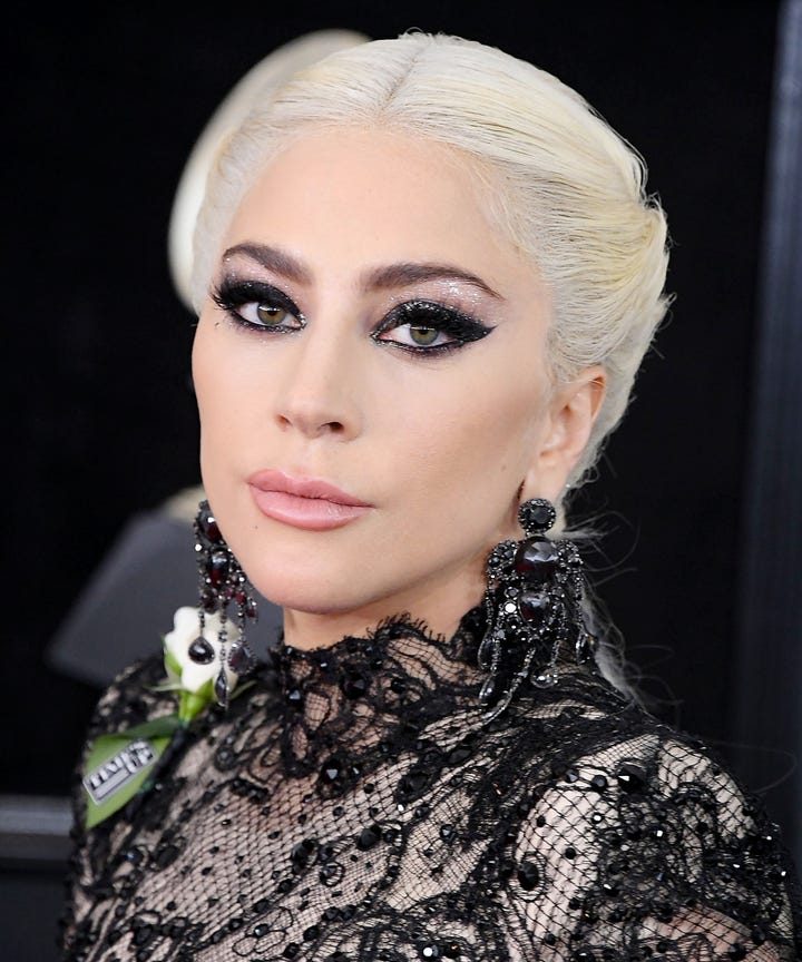 lady gaga posts old photo for birthday before after