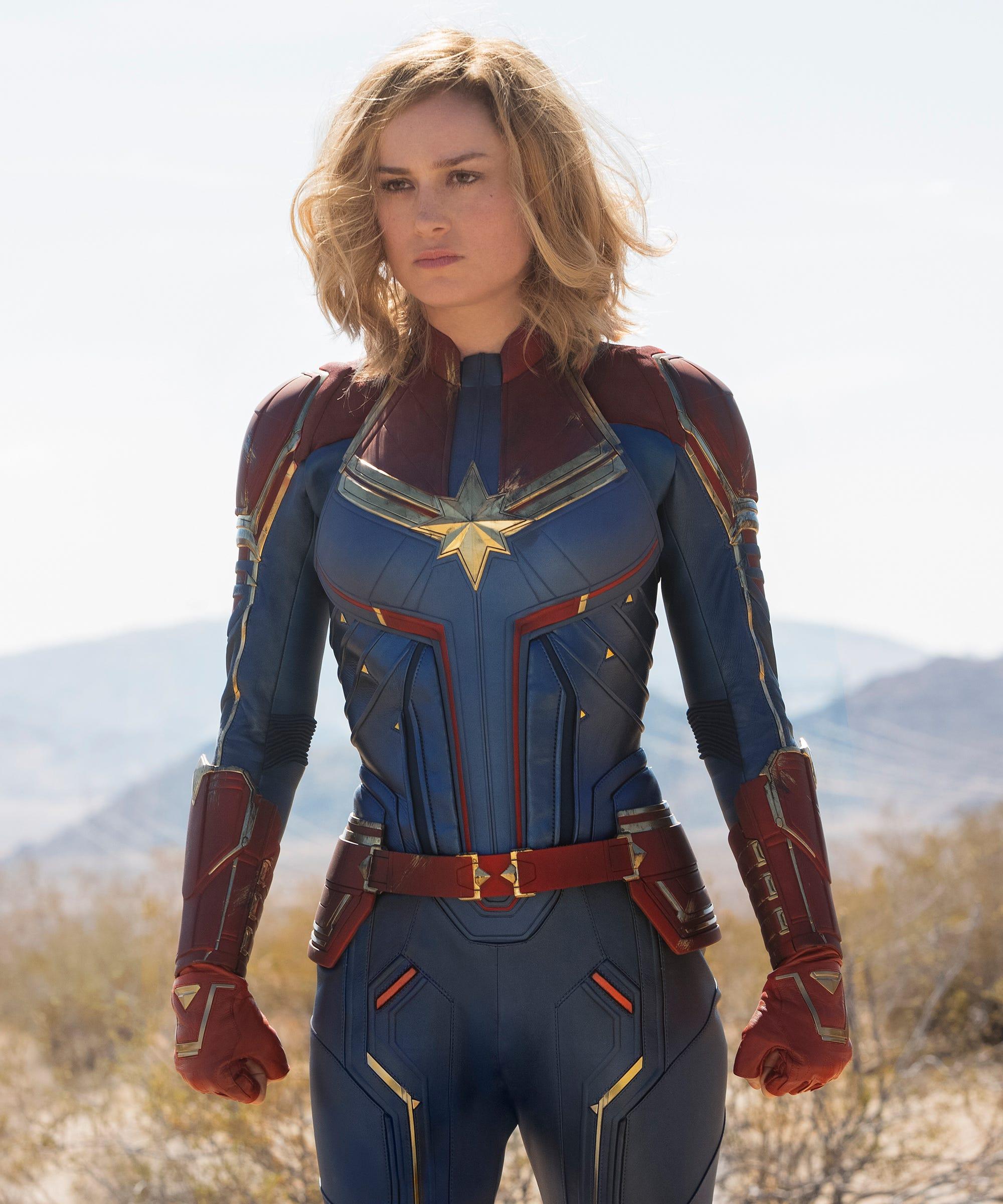 96b380b405a Brie Larson Retro Hair Transformation In Captain Marvel