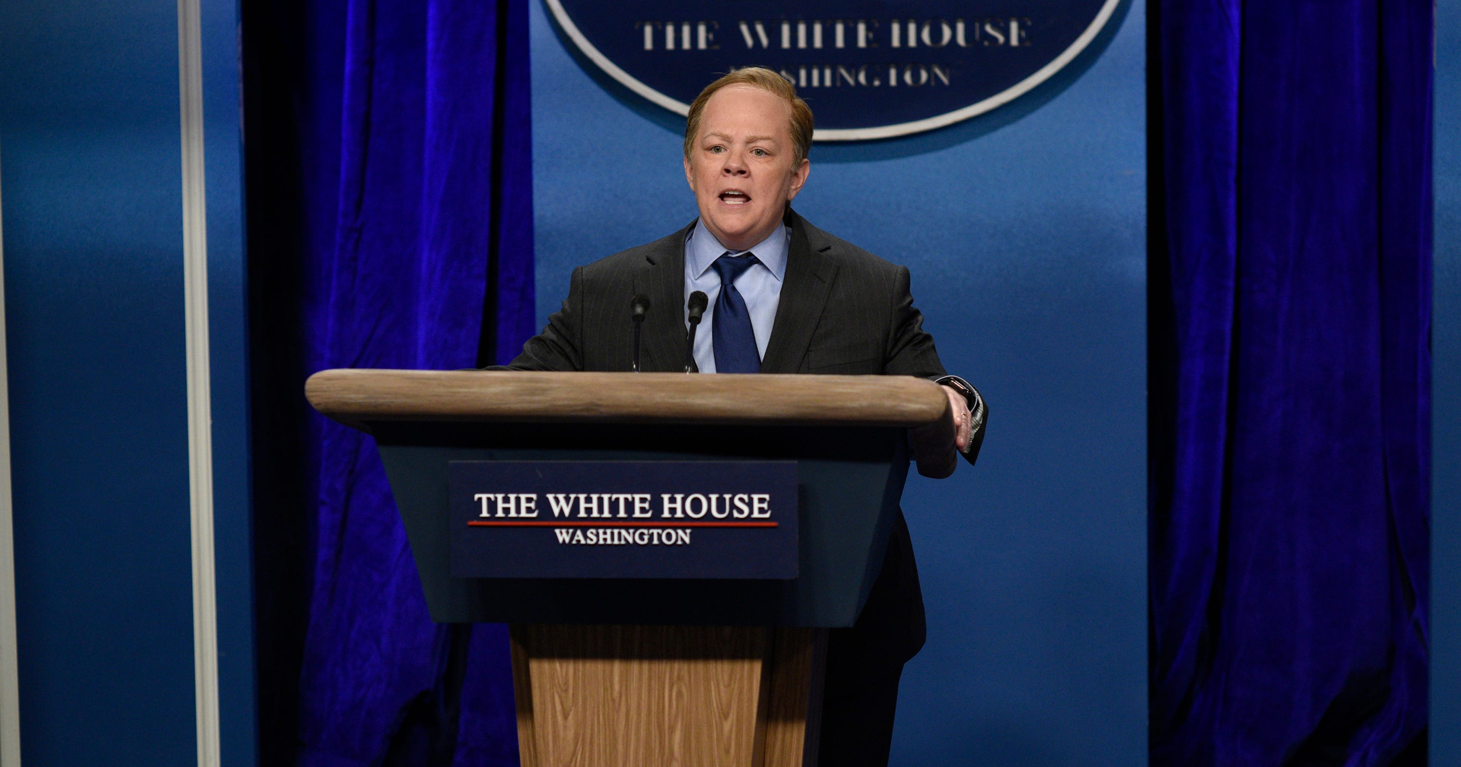 Sean Spicer Reacts To Melissa McCarthy's Saturday Night Live Takedown