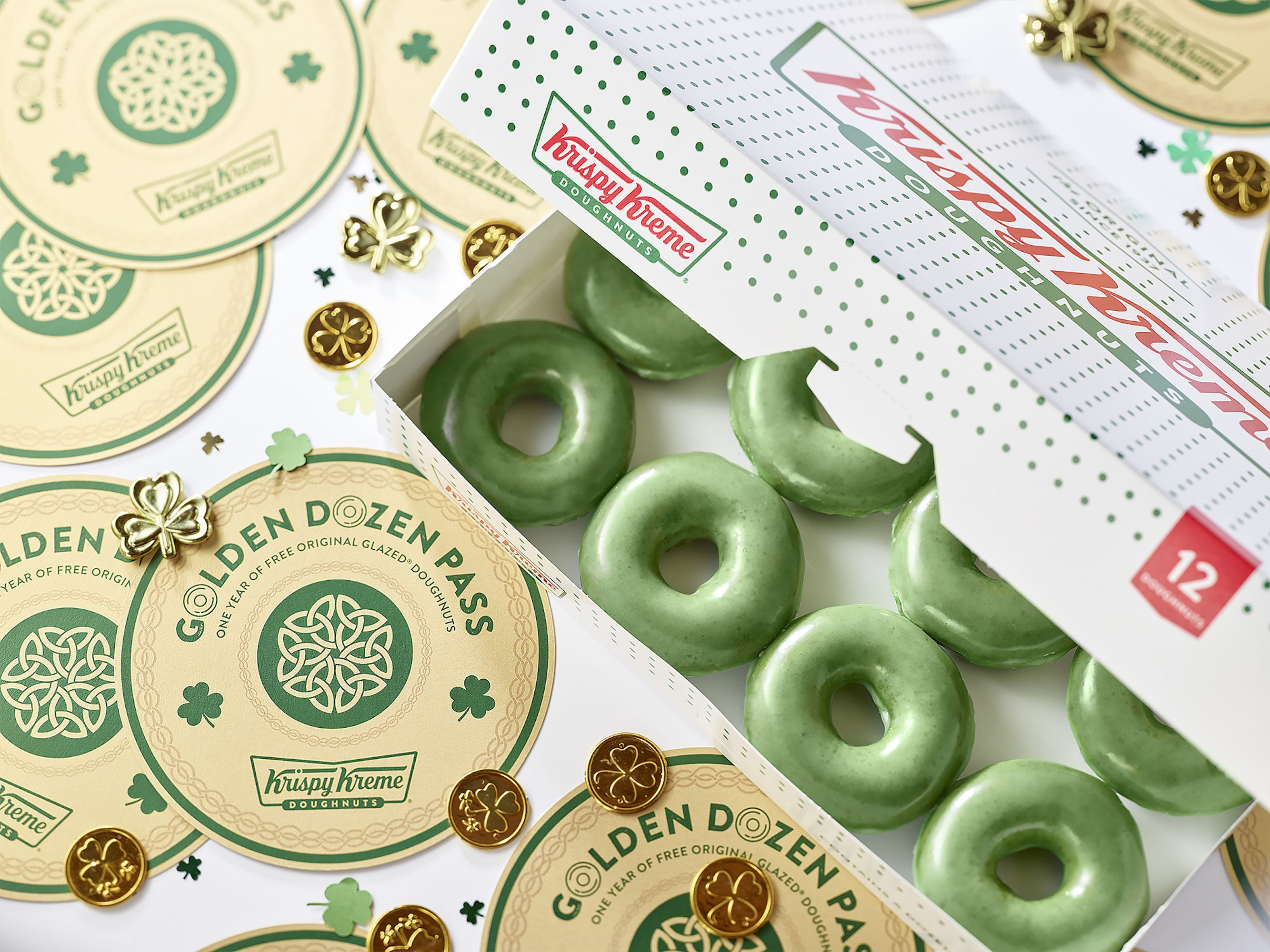 Krispy Kreme Is Turning Green For St. Patrick's Day & Giving Away Free Doughnuts