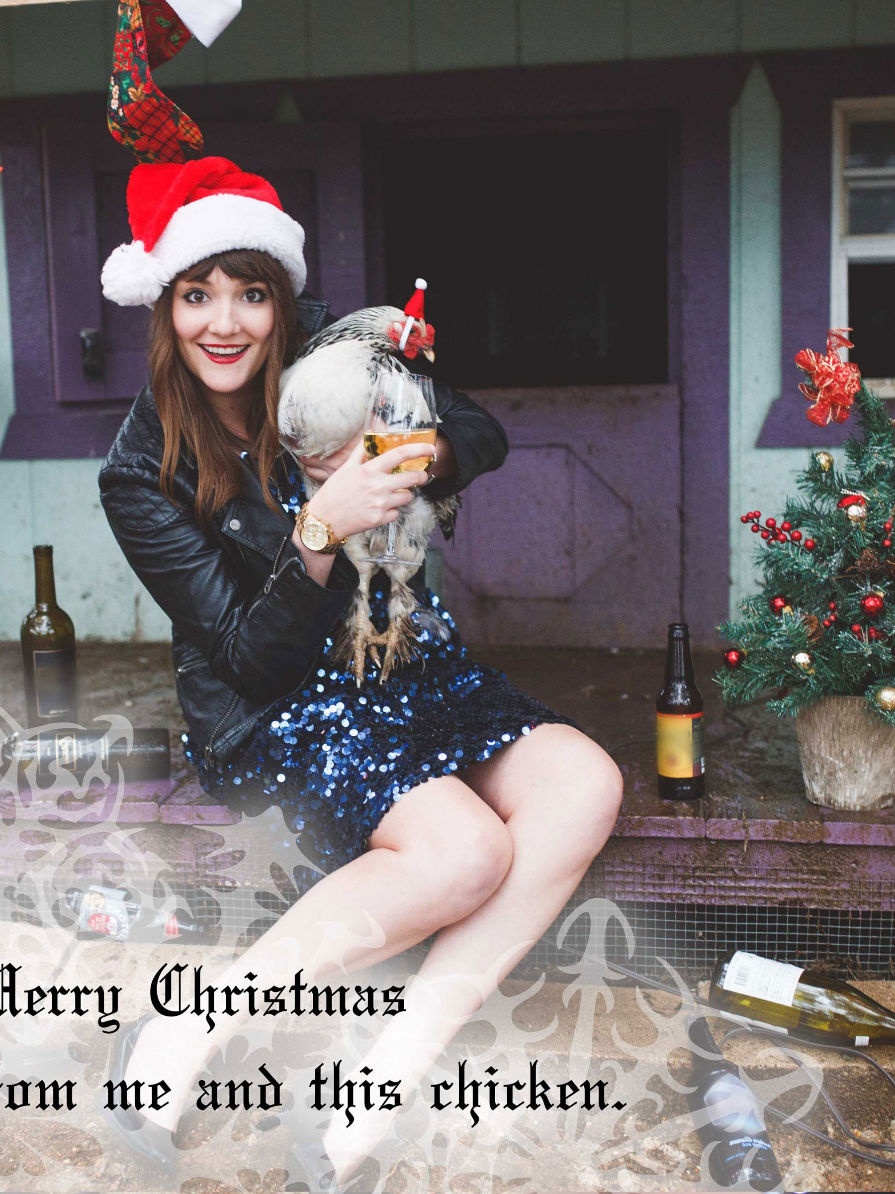 Hilarious Lonely Girl Christmas Cards