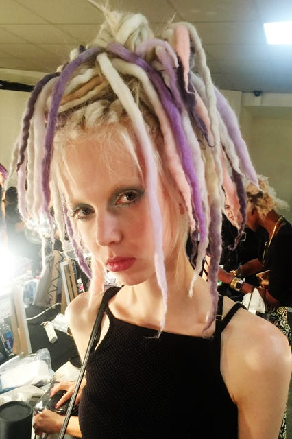 Marc Jacobs Rainbow Dreadlocks White Models Nyfw