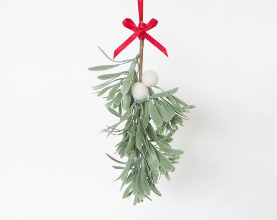 felt mistletoe can be used year after year kiss after kiss fairyfolk felt mistletoe christmas decoration