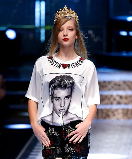 da9d99f45acdf Justin Bieber Made A Surprise Appearance On The Dolce   Gabbana Runway