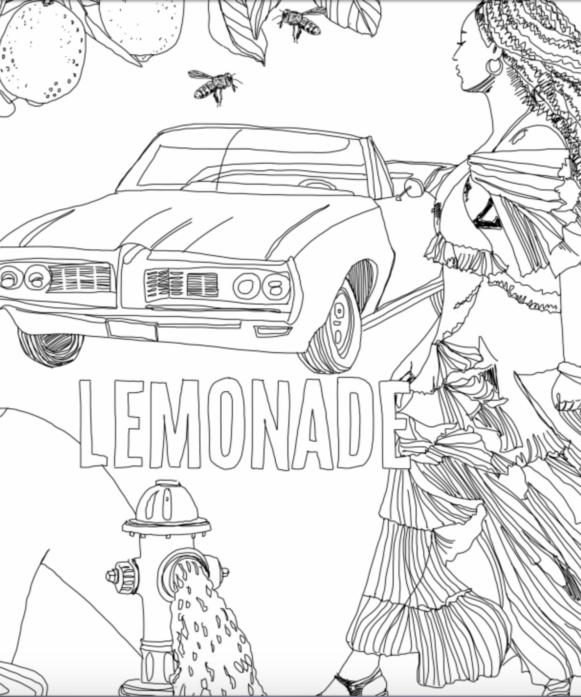 beyonce coloring pages Beyonce Lemonade Coloring Book beyonce coloring pages