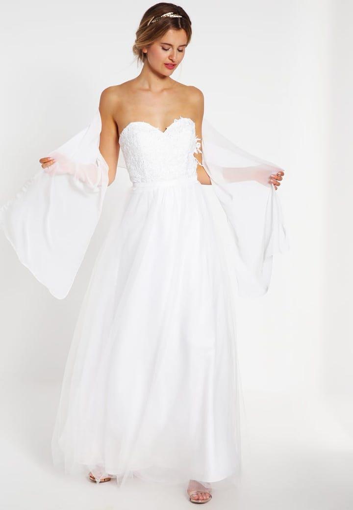 Fein Hochzeitskleider Unter 300 Fotos - Brautkleider Ideen ...