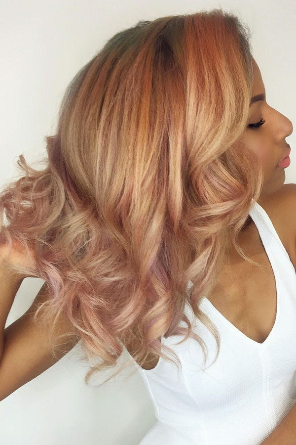 Rose Hair Color Pink Hair Dye Shades Photos