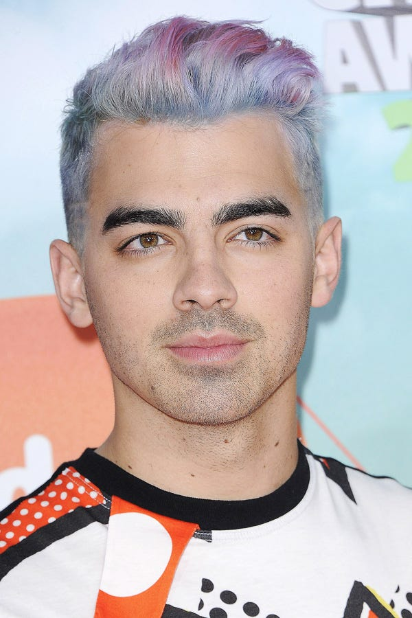 Celebrity Men With Colorful Hair