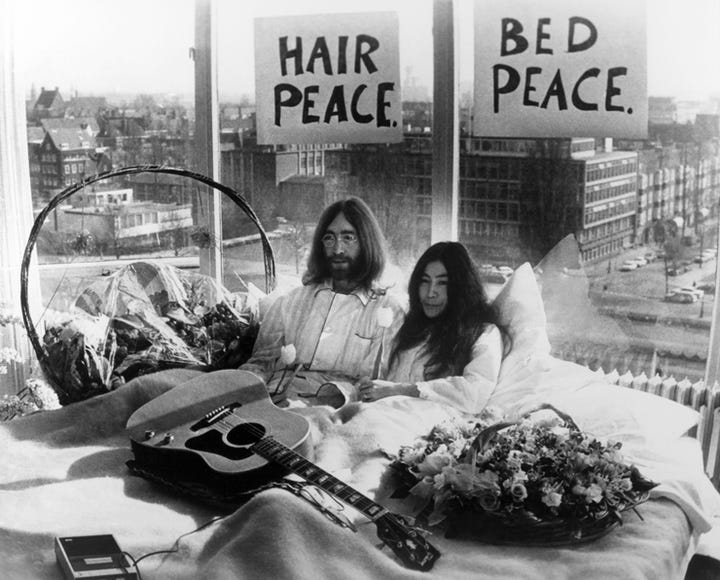 Photo Getty Images Advertisement John Lennon Yoko Ono Wedding Day