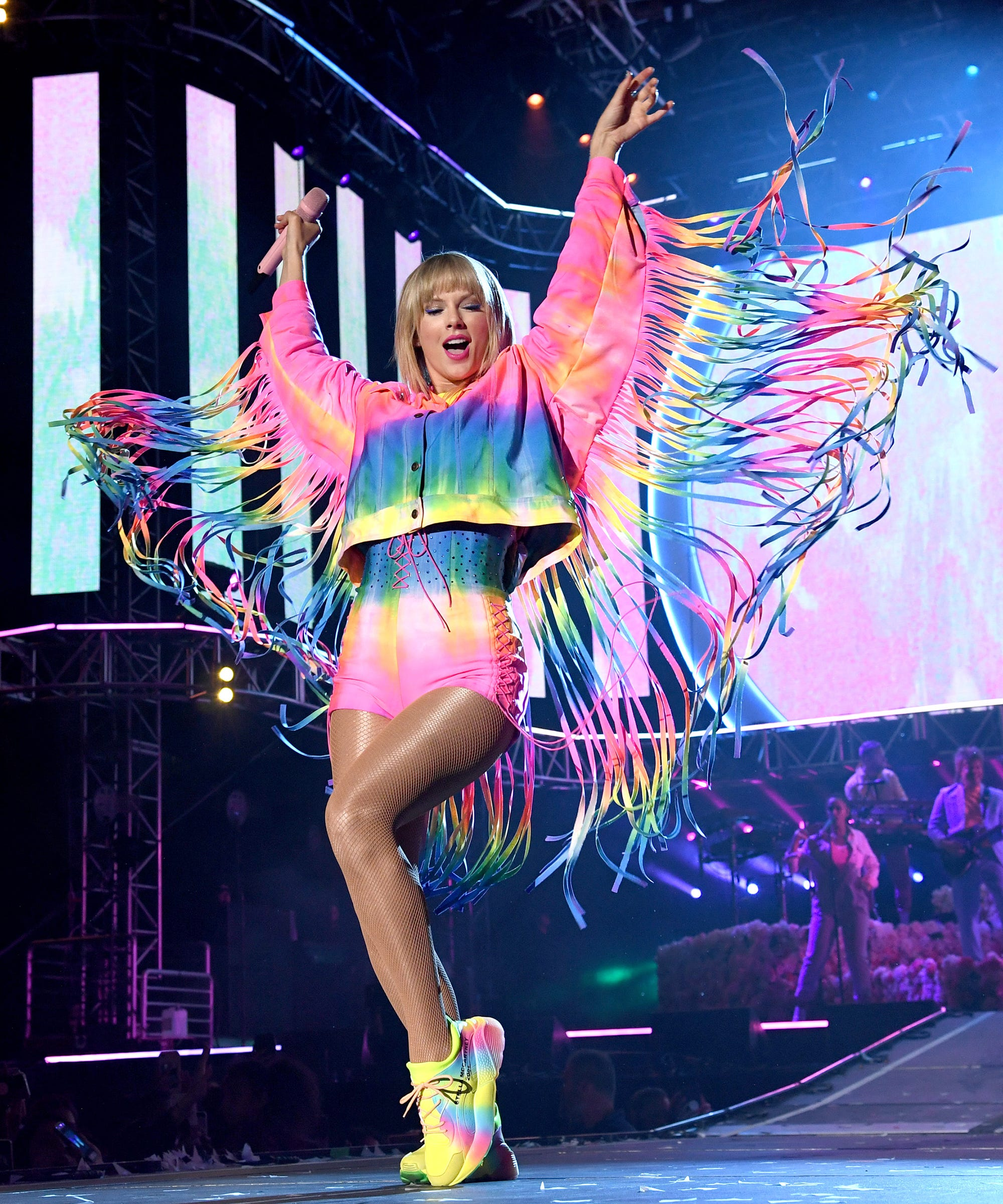 c53b59d12 Taylor Swift Wore A Rainbow Fringe Outfit To Kick Off Pride Month