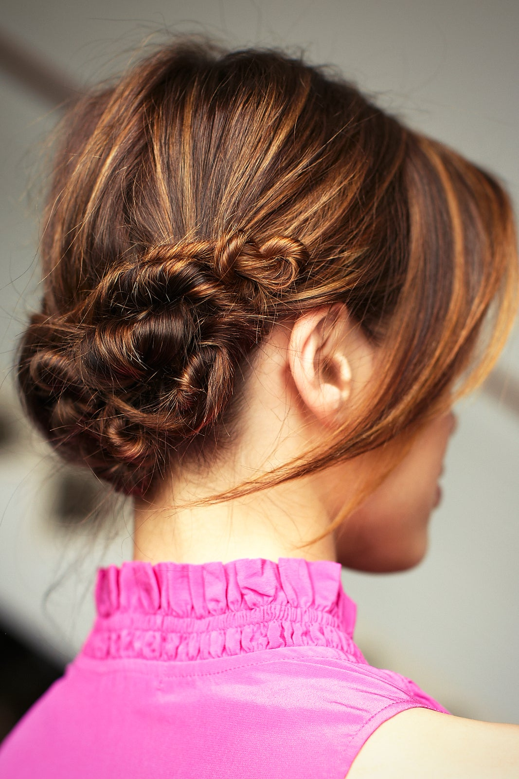 How to knotted a style chignon