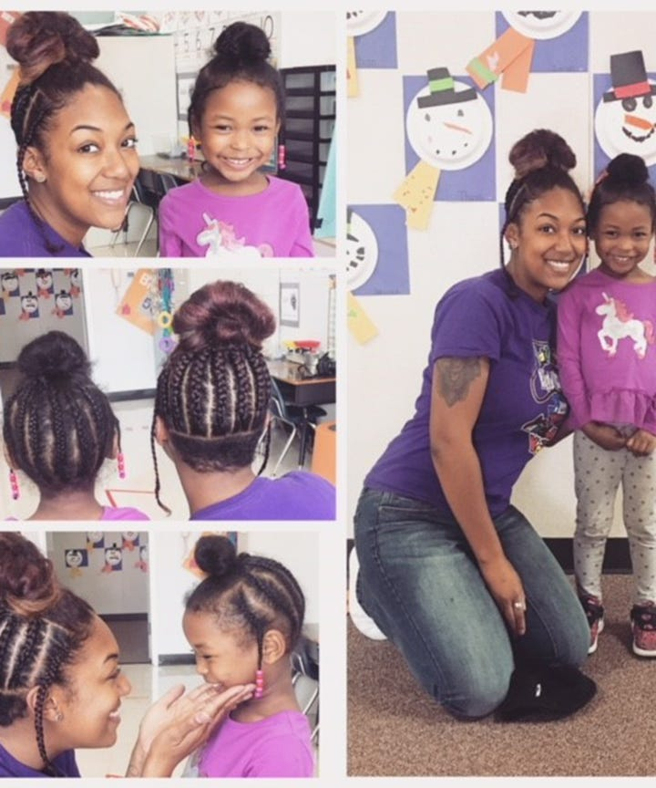 A Teacher Copied Her Student Braid Hairstyle