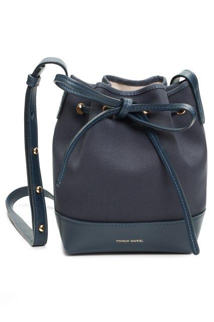 f0601157b24 Mansur Gavriel. Mini Bucket Bag Canvas In Blu/creme