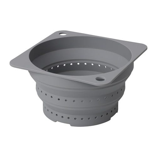 Made From The Same High Heat Safe Silicone As The Lids, This Collapsible  Colander Allows You To Drain, Steam, And Parboil In Any Size Pot.
