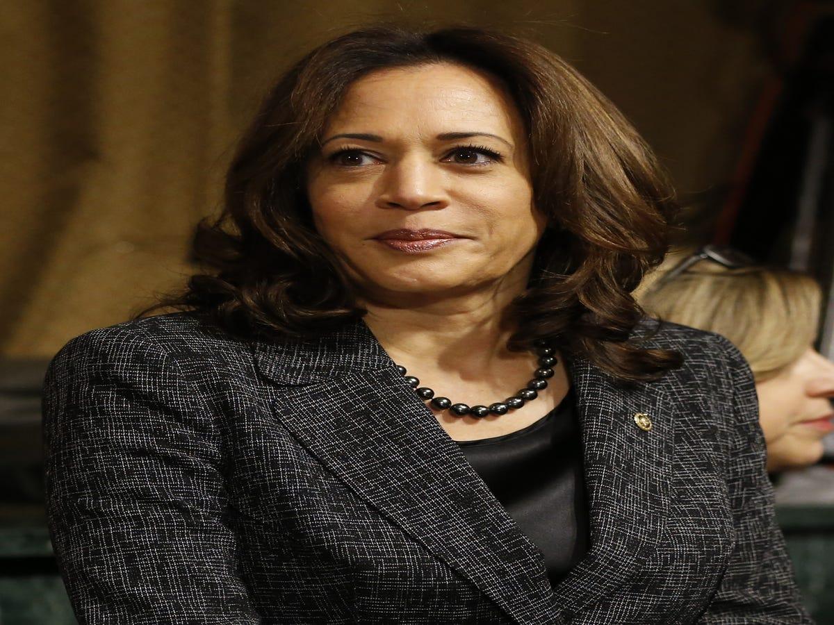 Kamala Harris Leads Democrats In Walkout, Calls Kavanaugh A  Political Operative