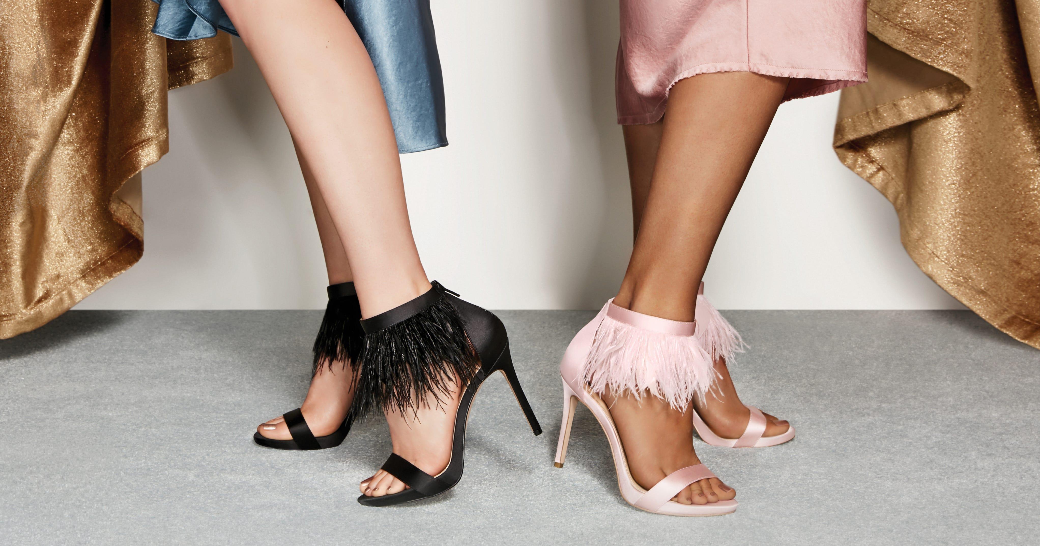 Pleasing brunette in shoes teasing
