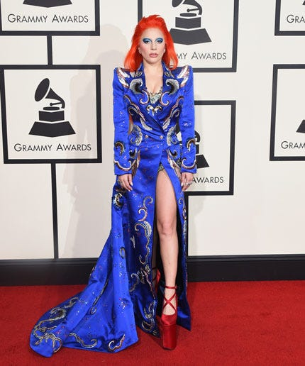 Lady Gaga Does A Full N Bowie Tribute Look In Marc Jacobs
