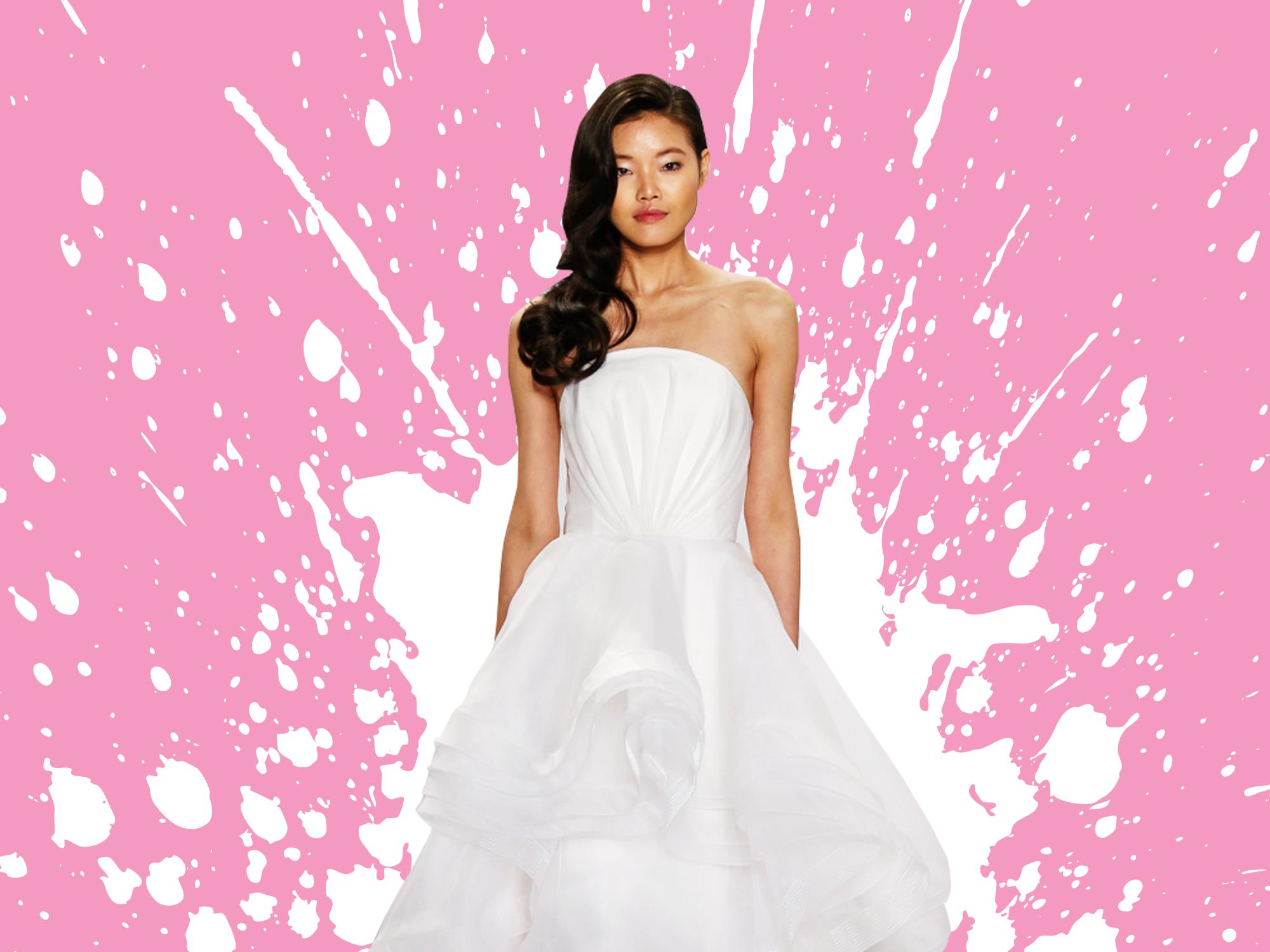 Hermosa Vestidos De Novia Kleinfield Festooning - Colección de ...