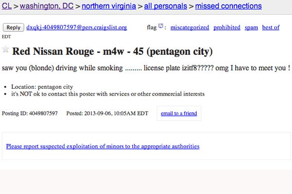 Washington Dc Craigslist Ads Funny Missed Connections