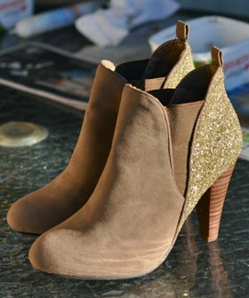 glitter refashion your boots