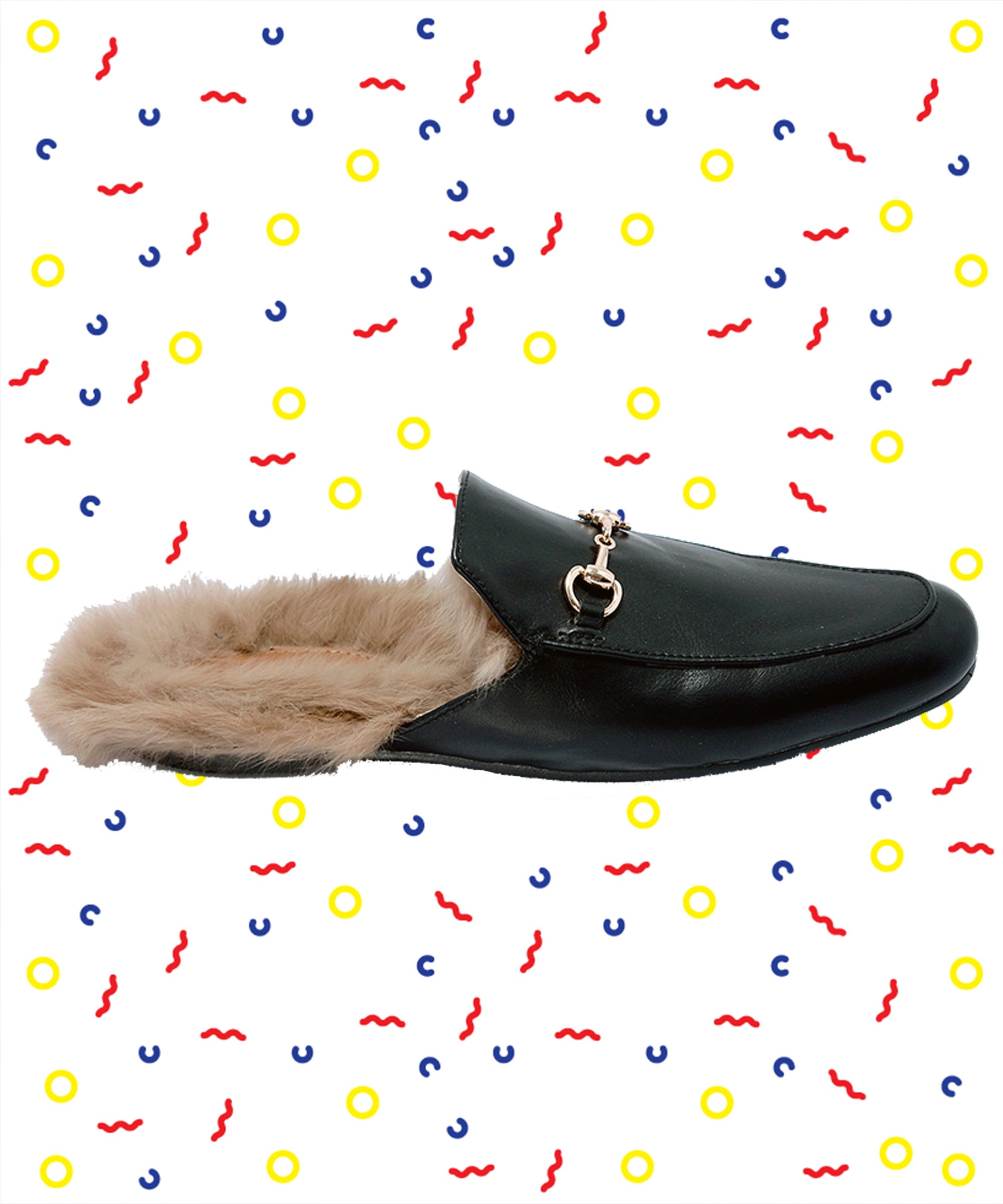 486b99a71e3 Gucci Fur Slipper Knockoff Loeil Shoes