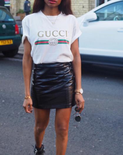0695d7560b9 Gucci Logo T-Shirt Instagram Outfit Ideas
