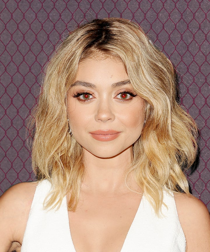 Sarah Hyland Dark Hair Summer New Color Trend Photos