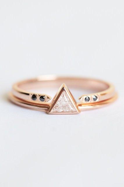 minimalist engagement rings simple design bands