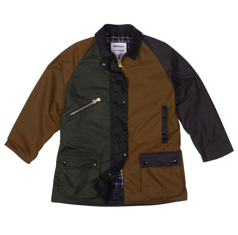 614e39742c344 BARBOUR BY ALEXACHUNG. Barbour Patch Wax Cotton Jacket