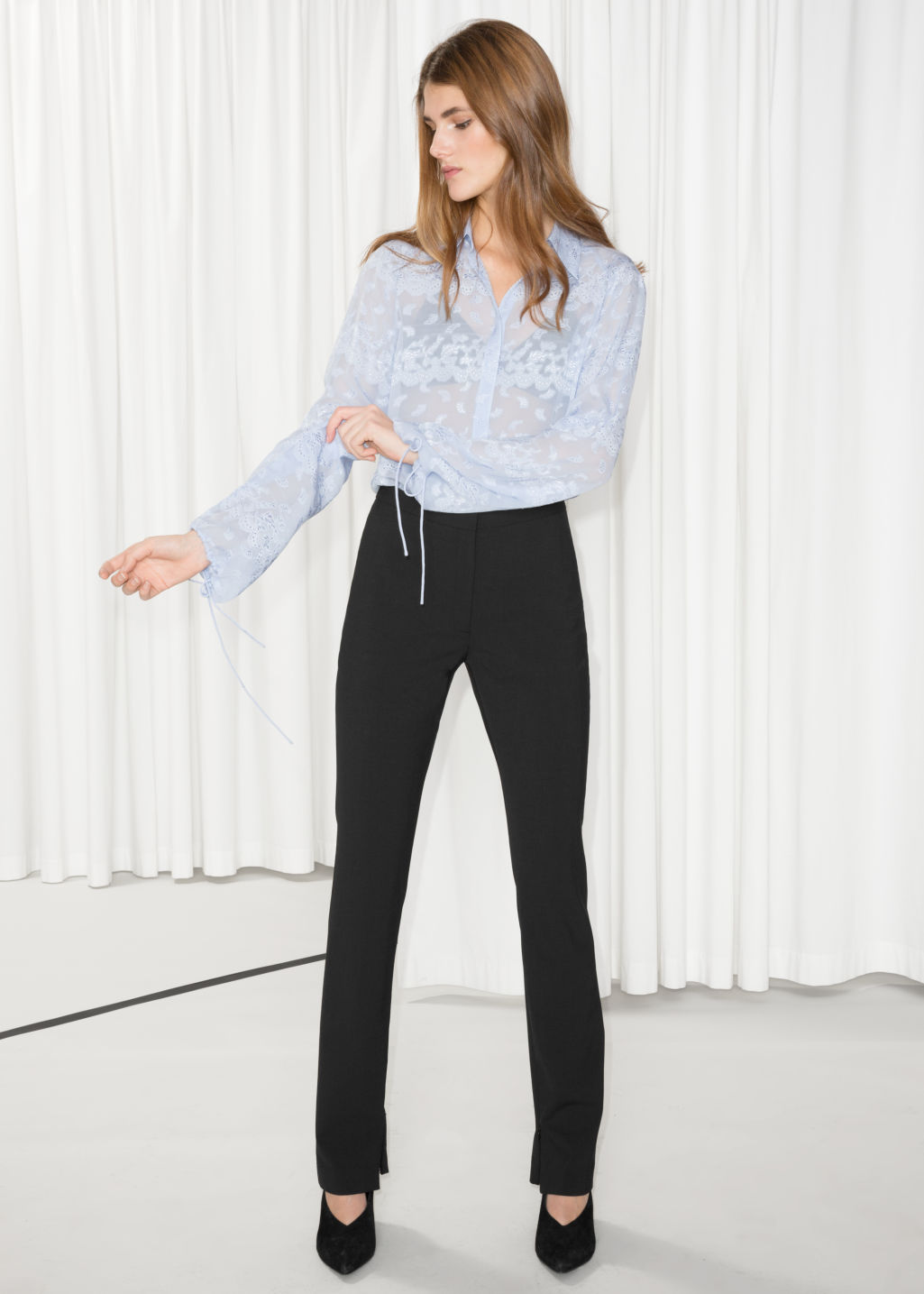 new product cf9b6 c036d INFO ·   Other Stories. Skinny Flare Trousers