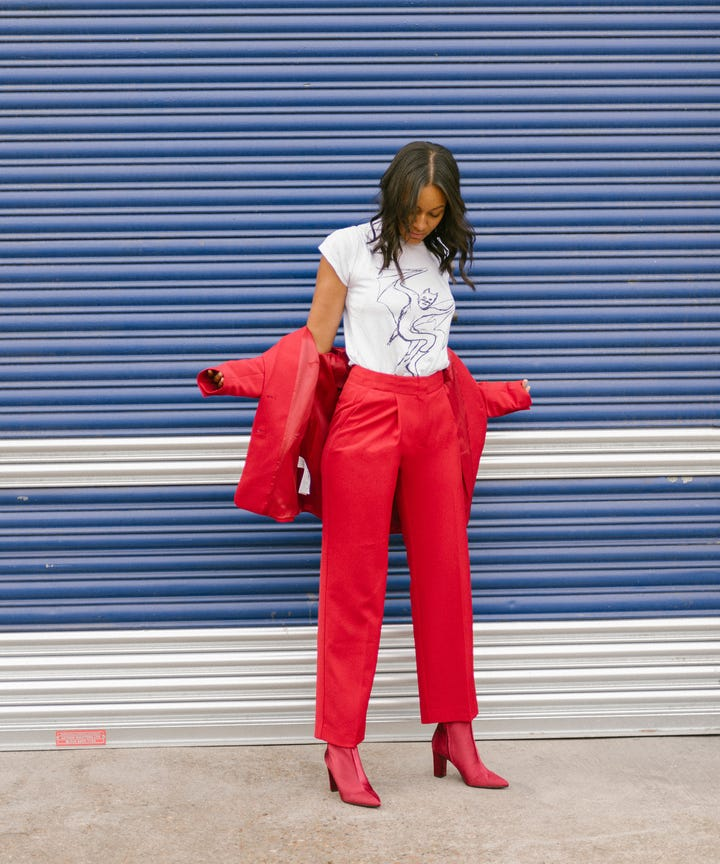 fb08b1a0a5d3f Whether or not the revival of the trouser suit is down to perennial  pantsuit queen, Hillary Clinton, it s official  sharp tailoring is one of  this season s ...