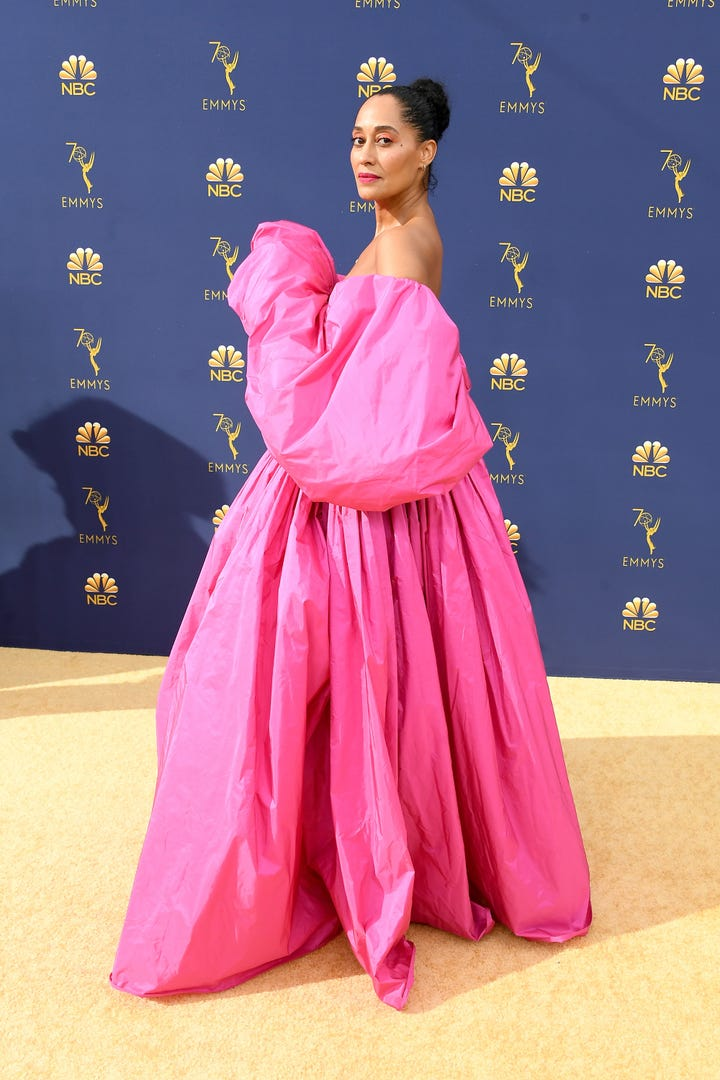 Tracee Ellis Ross Dress Turned Up The Volume At Emmys