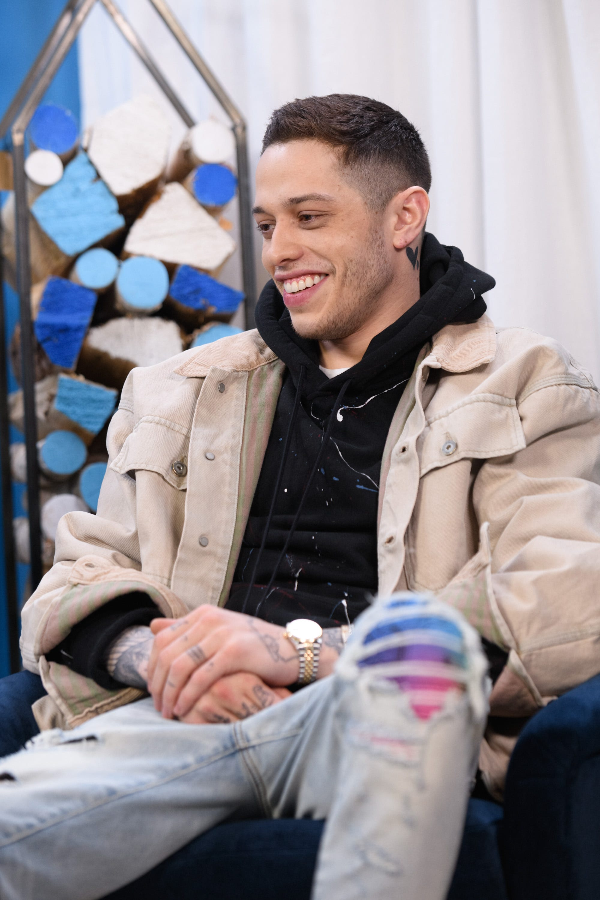 Pete Davidson Debuts Neck Tattoo With Kate Beckinsale