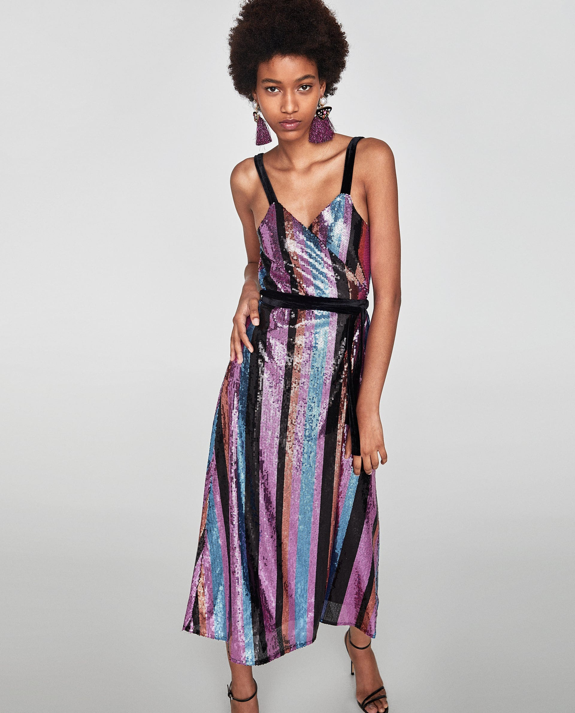 435d8e22 Best Zara Dresses Holiday Outfits for Christmas, Party