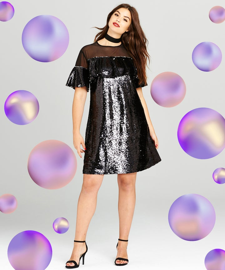 Plus Size Holiday Party Sparkle