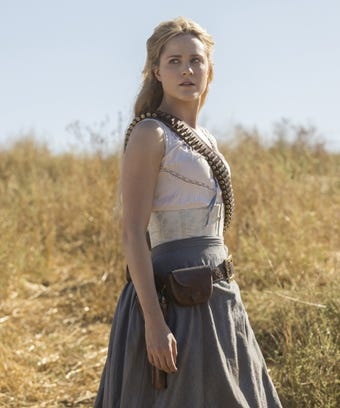 Evan rachel wood in westworld on HBO