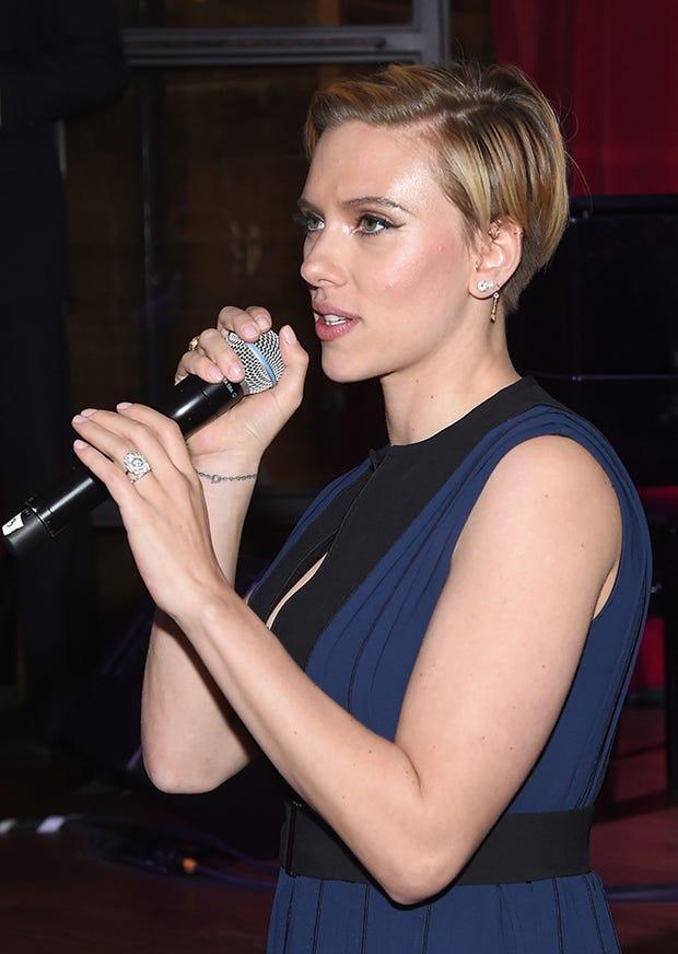 Scarlett Johansson Wedding Ring Romain Dauriac