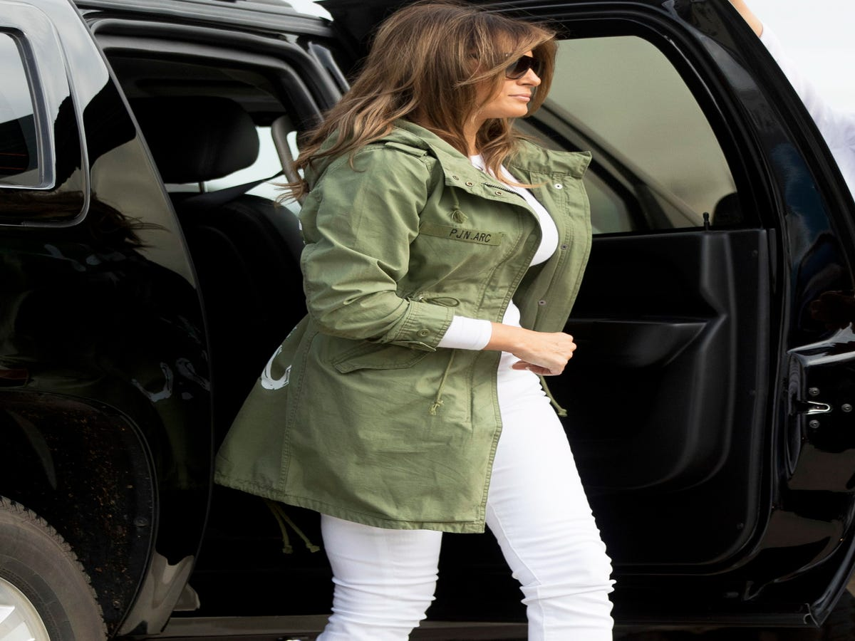 Melania Trump Wears  I Don t Really Care  Jacket On The Way To Visit Kids At The Border