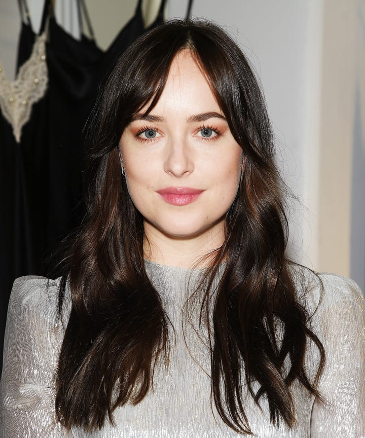Dakota Johnson Curtain Bangs Pinterest Hair Trend