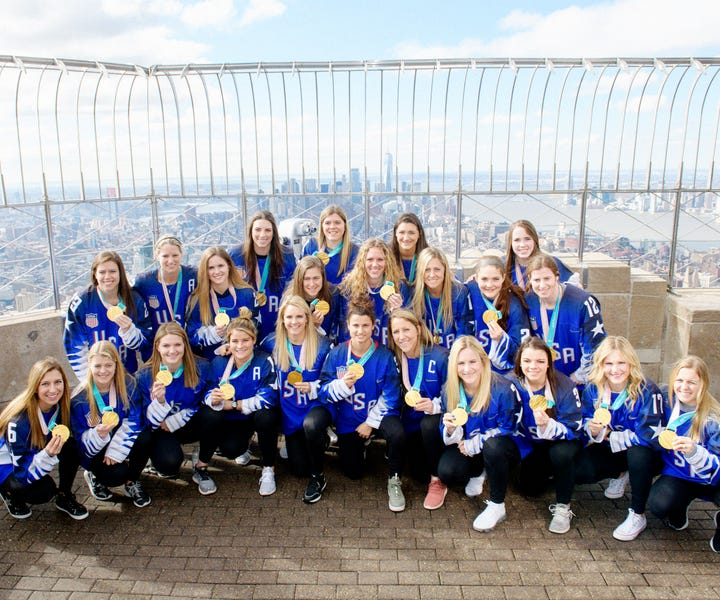 U.S. Womens Hockey Team Continues Push For Equality After Olympic Win
