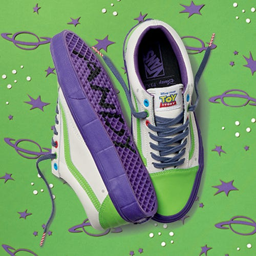 5e4eecd2a6b70e Vans Toy Story Collaboration - Buzz Lightyear Sneakers