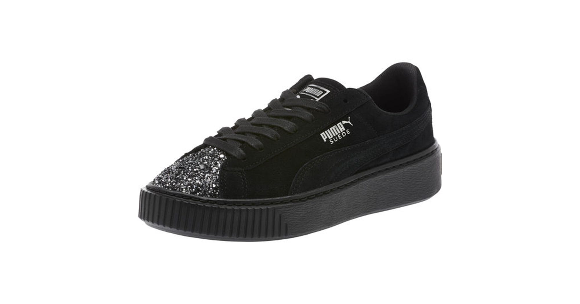 Shop Puma Suede Glitter Toe Sneakers b44e3261c