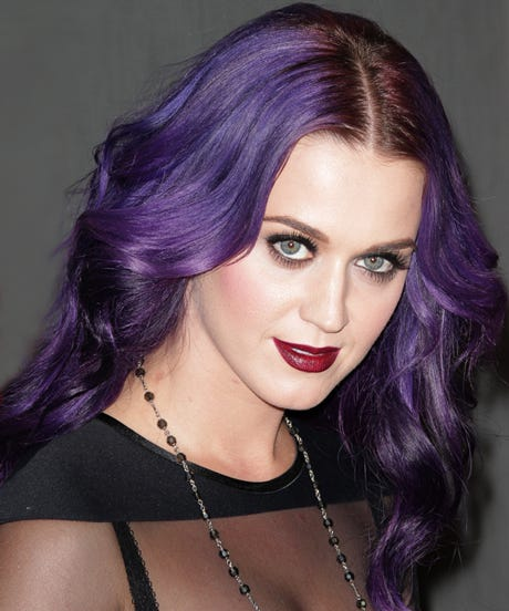 Celebrity Purple Hair Photos Singers Actresses
