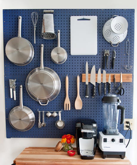 charming Using Pegboard In Kitchen Part - 13: If you donu0027t have easy access to tools and ingredients in the kitchen,  thereu0027s a slim chance youu0027ll muster the motivation to whip up even the  simplest bowl ...